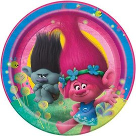 Luncheon Paper Plates-Trolls