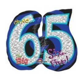 Foil Balloon-65th Birthday SuperShape 27""