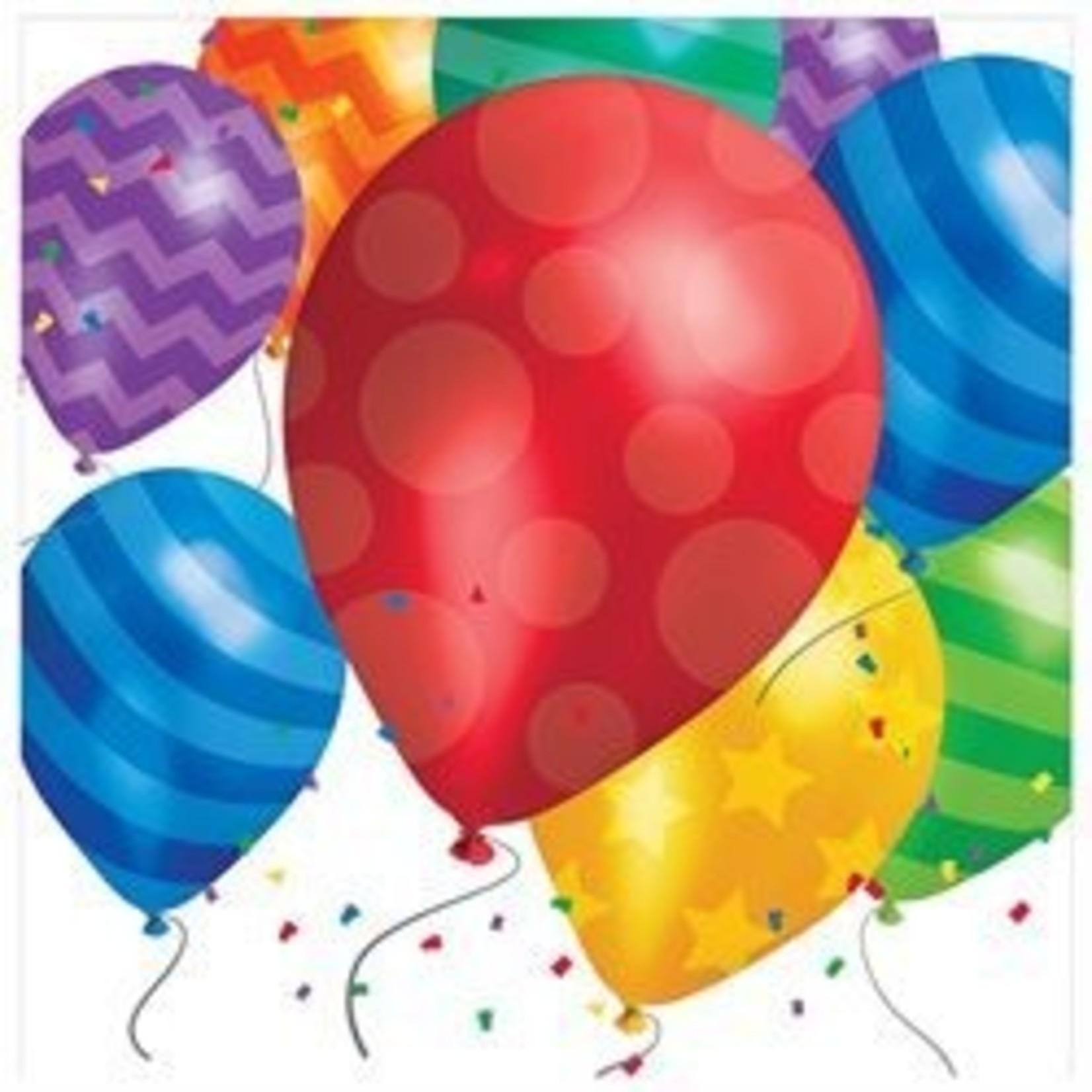 Napkins - LN - Balloon Blast - 16pkg - 2ply