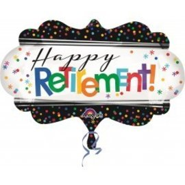 Foil Balloon-Happy Retirement SuperShape 27""