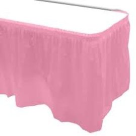 Plastic Table Skirt - New Pink 33.9 SQ ft.- Final Sale