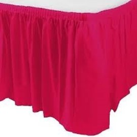 Plastic Table Skirt - Magenta 33.9 SQ ft.