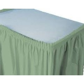 Plastic Table Skirt - Sage Green 33.9 SQ ft.