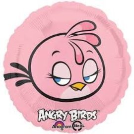 Foil Balloon - Angry Birds Pink - 18in.