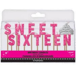 Birthday Candles - Sweet Sixteen