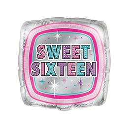 Foil Balloon - Sweet Sixteen - 18""