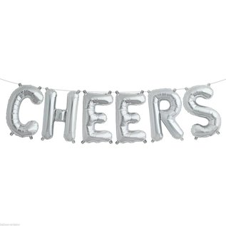 Air Filled -  Cheers Balloon Kit /Silver/ 16""