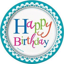 Plates-BEV-Confetti Cake Birthday-8pk-Paper- Discontinued