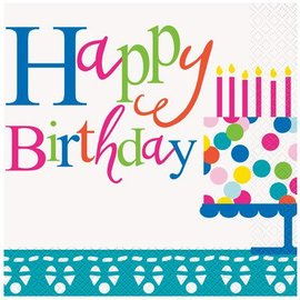 Napkins LN-Confetti Cake Birthday