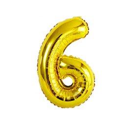 "Foil Balloon - Gold #6 - 34"""