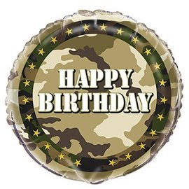 Foil Balloon - Happy Birthday Army - 18""