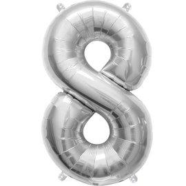 """Foil Balloon - Silver #8 - 34"""""""
