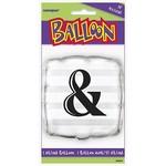 "Foil Balloon - & Square - 18"""