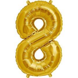 "Foil Balloon - Gold #8 - 34"""