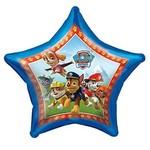 "Foil Balloon - Paw Patrol Jumbo Star - 34"""