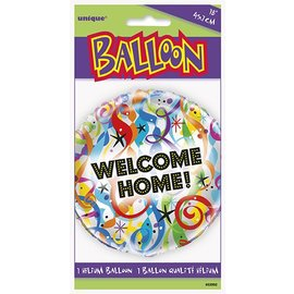 Foil Balloon - Welcome Home Streamers - 18""