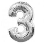 """Foil Balloon - Silver #3 - 34"""""""