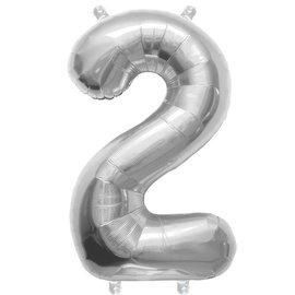 """Foil Balloon - Silver #2 - 34"""""""
