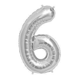 """Foil Balloon - Silver #6 - 34"""""""