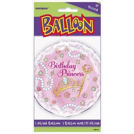 Foil Balloon - Birthday Princess - 18""