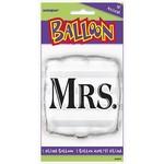 "Foil Balloon - Mrs. Square - 18"""
