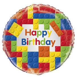 Foil Balloon - Happy Birthday Lego - 18""