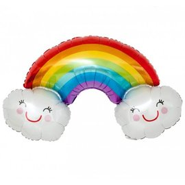 Foil Balloon-Supershape-Rainbow Smiling Cloud