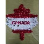 Canada Tinsel Maple Leaf Wall Decoration