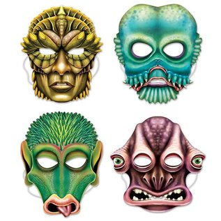 Alien Masks - 4 pk