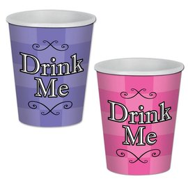 Cups - Alice In wonderland-9oz-8pk-Paper- Discontinued