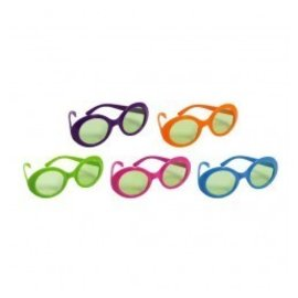 Glasses 70's Colours-10pk