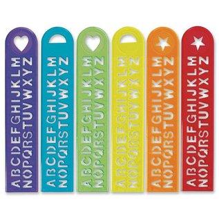 Alphabet Stencil Rulers