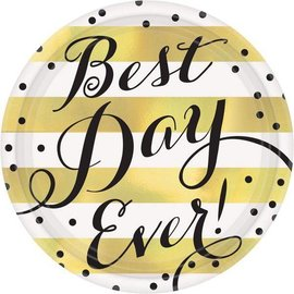Plates Bev-Best Day Ever-8pk- Discontinued