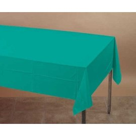 Plastic Rectangular TableCover - Teal Lagoon - 54 in x 108 in- Discontinued