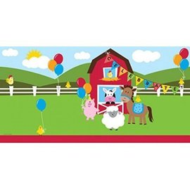 Table Cover-Rectangle-Farmhouse Fun-54''x108''-Plastic