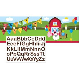 Giant Party Banner - Farmhouse Fun - 1 Banner