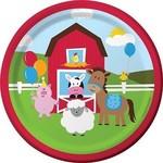 "Beverage Paper Plates-Farmhouse Fun-8pk-7"""