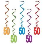Birthday Whirls - Hanging Decorations (50 th)