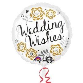 "Foil Balloon - Wedding Wishes - 17"""