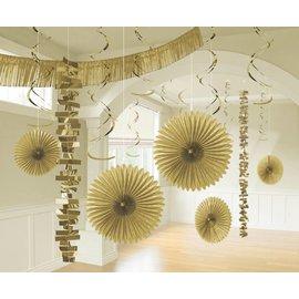 Decorating Kit- Foil and Paper- Gold- 18pcs