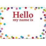 Name Tags-Hello my name is-Polka Dot