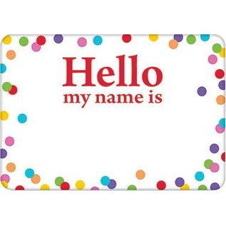 Name Tags-Hello my name is-Polka Dot