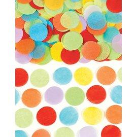 Paper Confetti-Red, Green, Blue, Yellow, Purple-0.8oz