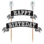 Cake Picks - Happy Birthday Chalkboard