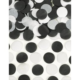 Paper Confetti-Black and White-0.8oz