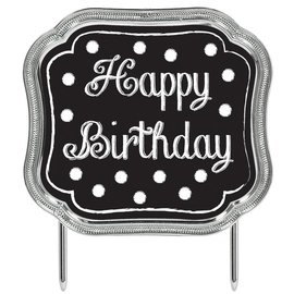 Cake Topper-Happy Birthday Chalkboard