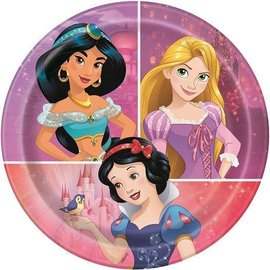 Beverage Paper Plates-Disney Princess-8pk-6 3/4""