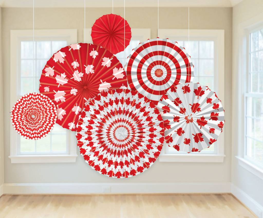 Paper Fan Decorations Canada Day Victoria Party Store