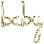 """Foil Balloon - gold baby air filled - 31x34"""""""