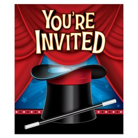 Invitations-Magic Party-8pk